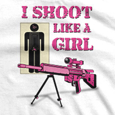 I SHOOT LIKE A GIRL ASSAULT RIFLE WITH STAND