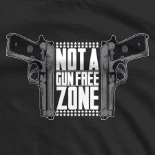NOT A GUN FREE ZONE DOUBLE GUNS