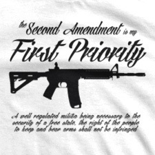 THE SECOND AMENDMENT IS MY FIRST PRIORITY